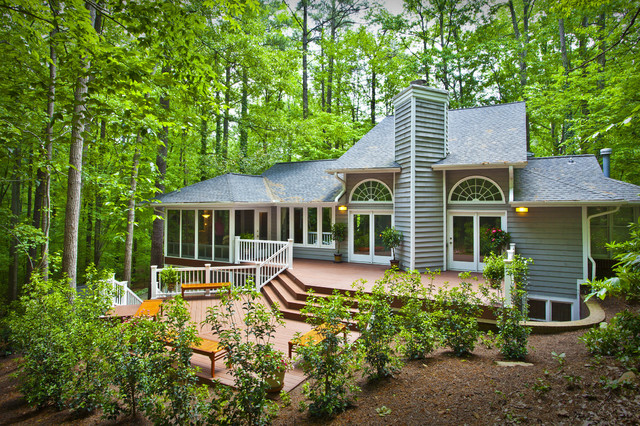 Trex Decking Problems Deck Traditional with Arched Window Bushes Covered Porch Deck Enclosed Porch Glass