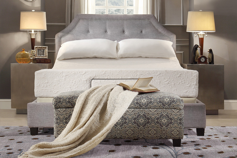 Tribecca Home Bedroom Midcentury with Area Rug Bedroom Benches Blanket Contemporary Crystal