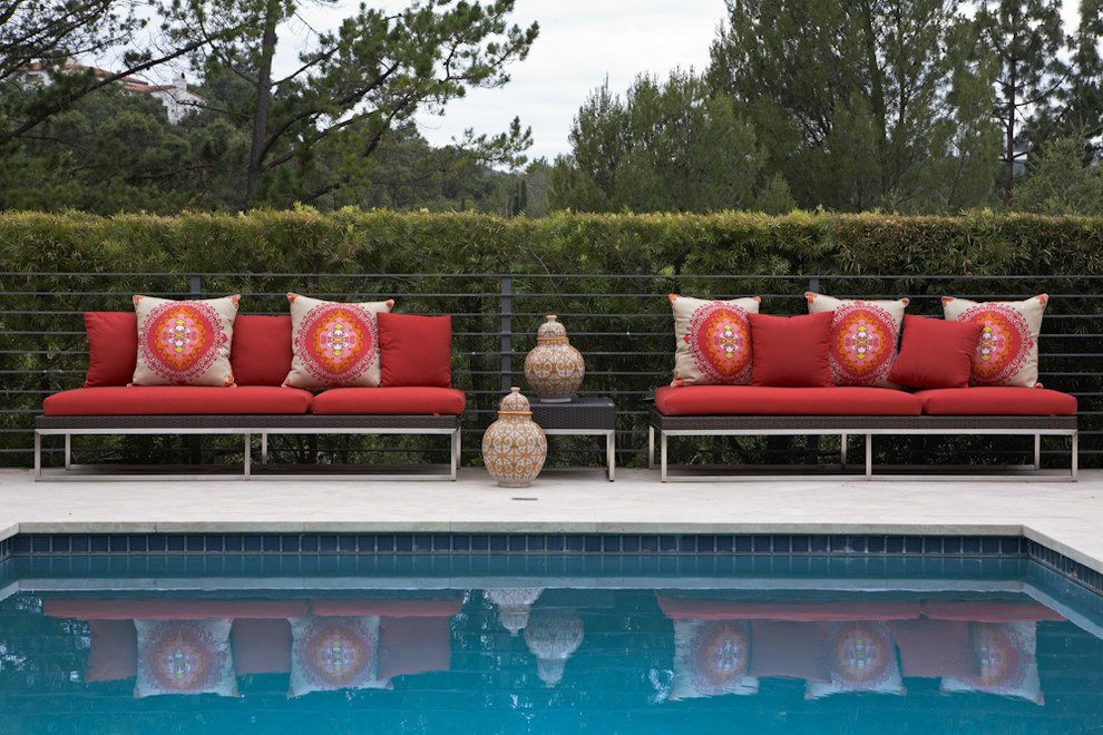 Trina Turk Bedding Pool Eclectic with Beverly Hills Lounge Chairs Moroccan Outdoor Outdoor