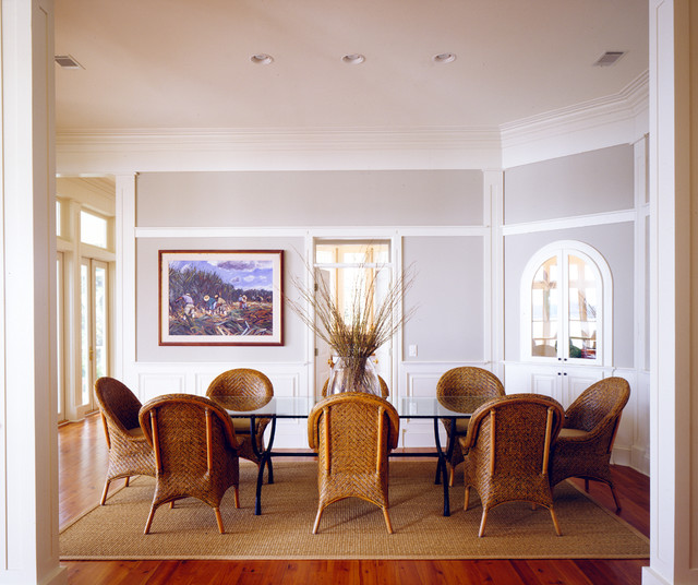 True Innovations Chair Dining Room Beach with Arch Arched Door Bookshelf Box Moulding Branches Built In
