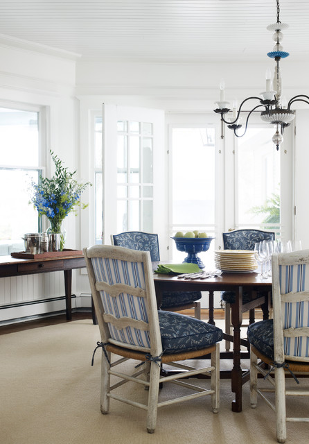 True Innovations Chair Dining Room Beach with Beach Style Blue Cushions Chair Cushions Chandelier Coastal Distressed