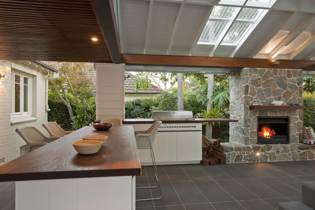 Tubular Skylights Patio  Contemporary With Barstools Dark Wood Ceiling Firewood Grill Grill Counter Grill