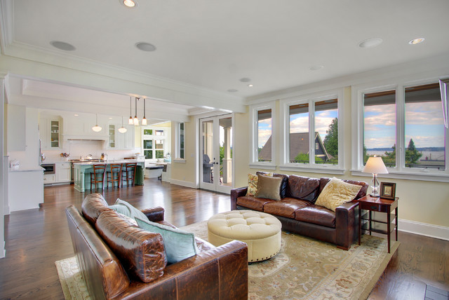 Tufted Leather Couch Living Room Traditional with Area Rug Blue Island Brown Leather Sofa Counter Seats