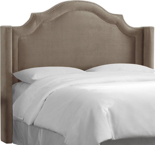 Tufted Wingback Headboard with Bedroom Furniture Grey Brown Headboard Guest Room Furniture Large
