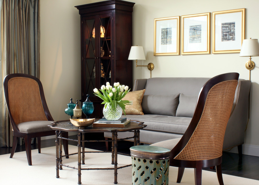 Tulip Arrangements Living Room Traditional with Ankasa Area Rug Baker Cane Chair China