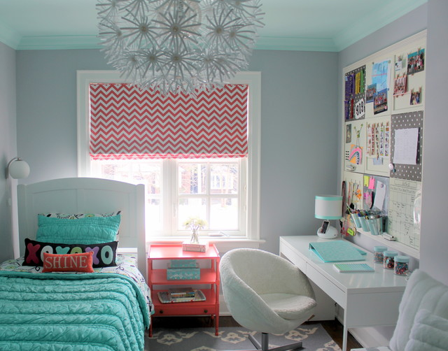 Tween Bedding Kids Transitional with Area Rug Chevron Girls Room Grey and Coral Kids