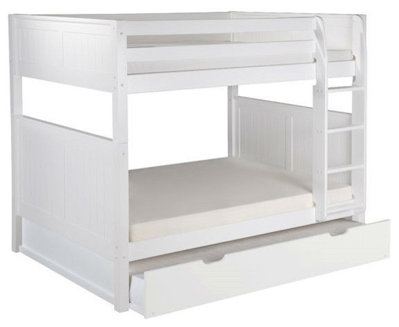 Twin beds with trundle with magnussen cameron twin size trundle panel bed in white White twin trundle bedroom set