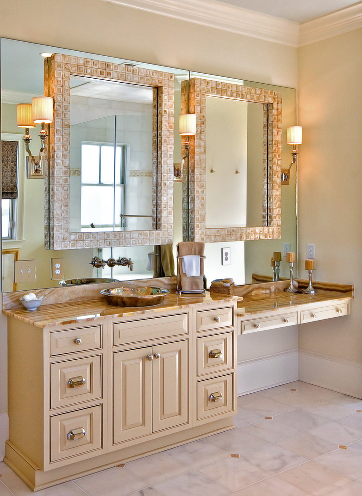 Uttermost Mirrors Bathroom Traditional with Capiz Shell Mirror Dressing Table Faucet Mounted