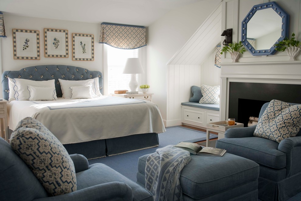 Valance Ideas Bedroom Traditional with Armchairs Bed Skirt Blue Built Ins Club