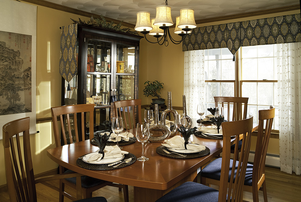 Valance Ideas Dining Room Contemporary with Centerpiece Chandelier Chandelier Shades China Cabinet Crown