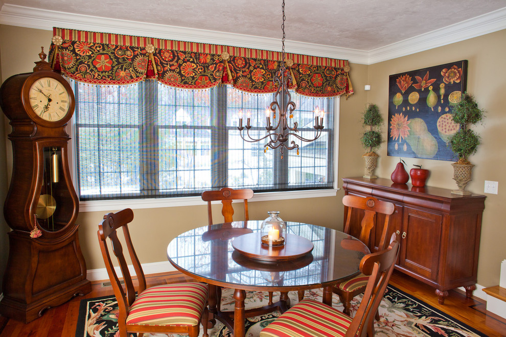 Valance Patterns Dining Room  Traditional With Chandelier Clock Curtains Cushions Custom Curtains Custom