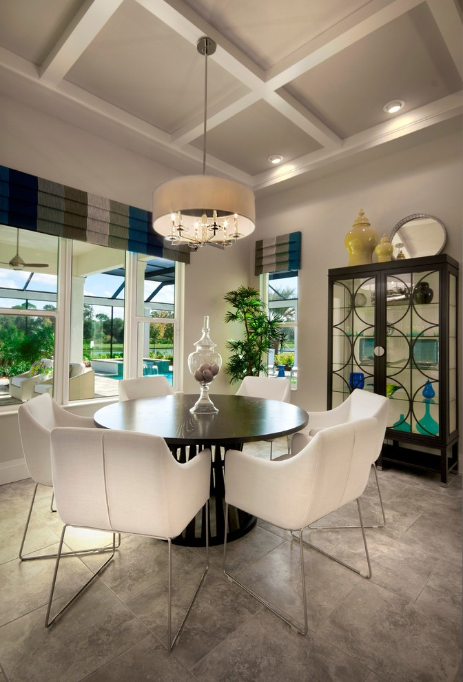 valences Dining Room Contemporary with breakfast nook cafe casual dining chairs chandelier