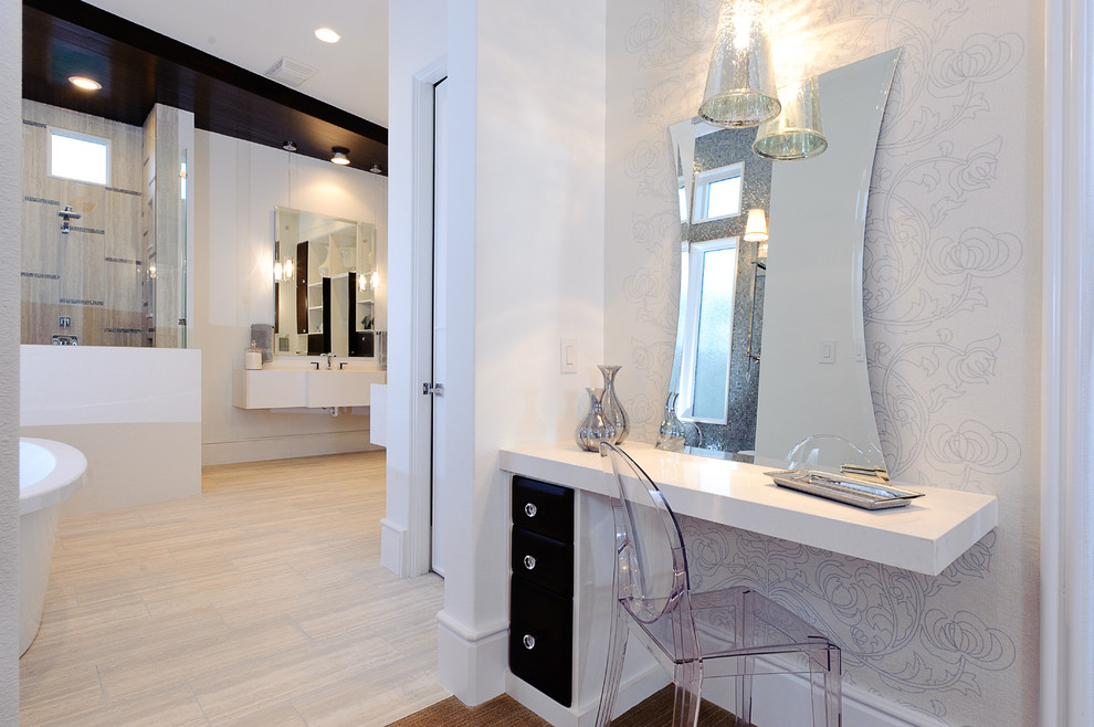 Vanity Dressing Table Bathroom Contemporary with Baseboards Boudoir Dressing Table Floating Vanity Ghost