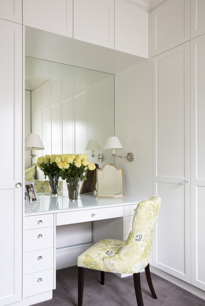 Vanity Dressing Table Closet Traditional with Crystal Handles Dressing Room High End Luxury