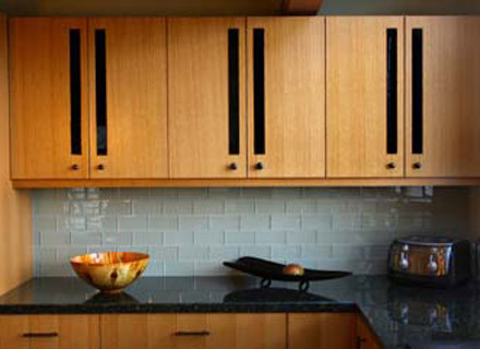 Verde Butterfly Granite Kitchen Contemporary with Contemporary Custom Cabinets Glass Tile Granite Kitchen