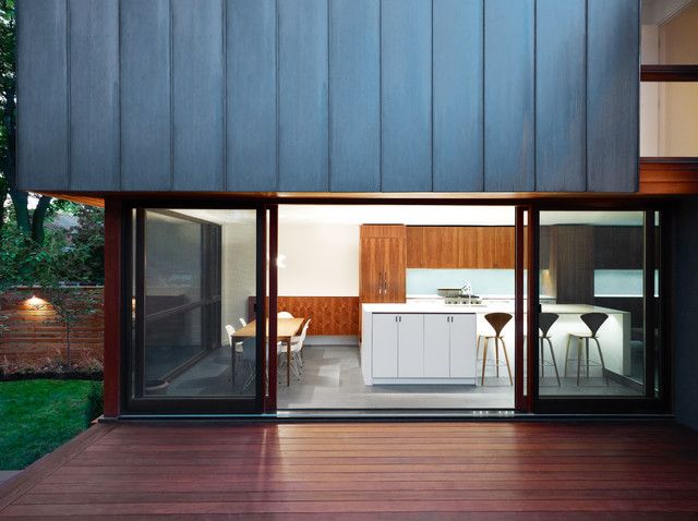 Vertical Blinds for Sliding Glass Doors Exterior Contemporary with Deck Glass Walls Indoor Outdoor Kitchendining Metal Siding Sliding Glass