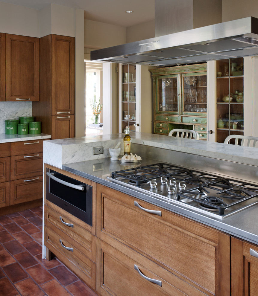 Viking Gas Cooktop Kitchen Contemporary with Breakfast Bar China Cabinets Cooktop Dining Hutch