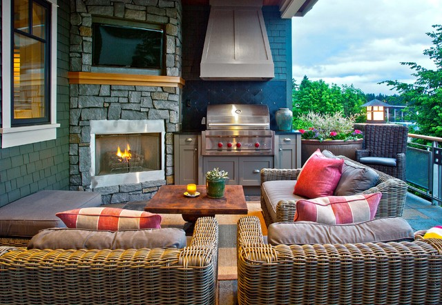 Viking Outdoor Grill Patio Traditional with Bbq Black Backsplash Gray Cabinets Outdoor Fireplace Outdoor Furniture
