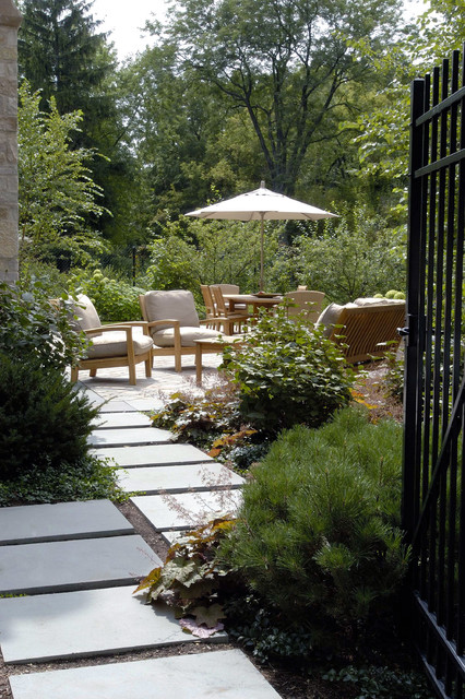 Walkway Pavers Patio Contemporary with Concrete Exterior Seating Floating Pavers Neutral Colors Outdoor Cushion