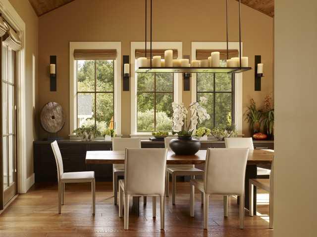 Wall Candle Sconces Dining Room Traditional With Dining Table French Door  French Window Leather Chair Sideboard