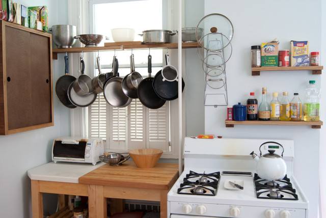 Wall Mount Magazine Rack Kitchen Eclectic with Apartment Cooking Storage Hanging Pans Hanging Pots Hutch Kitchen