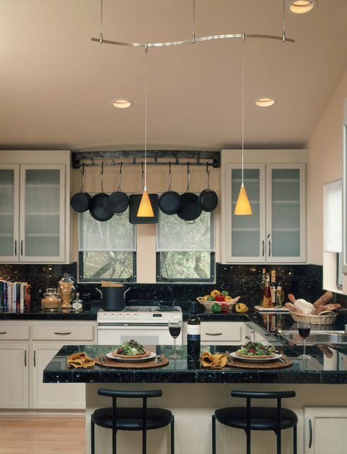 Wall Mount Pot Rack Kitchen Contemporary with Black Countertops Cast Iron Contemporary Counter Stools Custom Kitchen