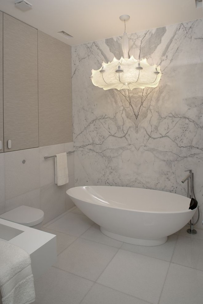 wall-mount-tub-filler-Bathroom-Contemporary-with-black-and-white ...