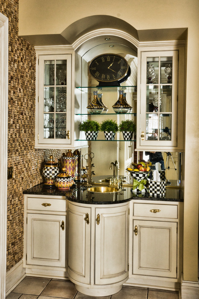 Kitchen Sinks Cork : ... Kitchen Traditional with Brass Accents Brass Faucet and Sink Cork
