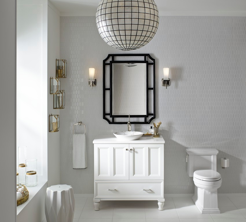 Wall Sconce with Switch Bathroom Eclectic with Bathroom Furniture Bathroom Mirrors Brass Accessories Gold