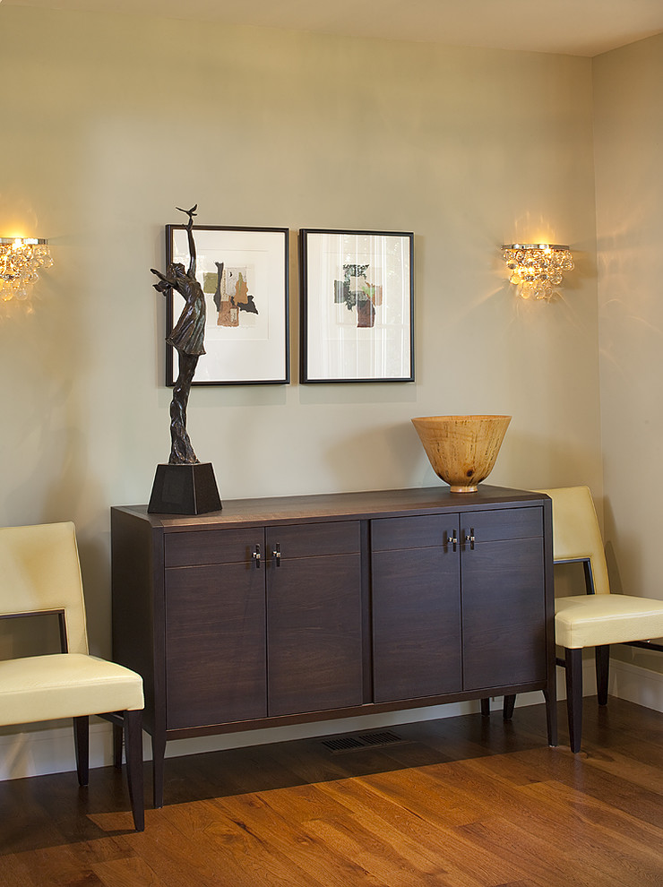 Wall Sconce with Switch Dining Room Contemporary with Credenza Leather Dining Chairs Neutral Colors Sconce