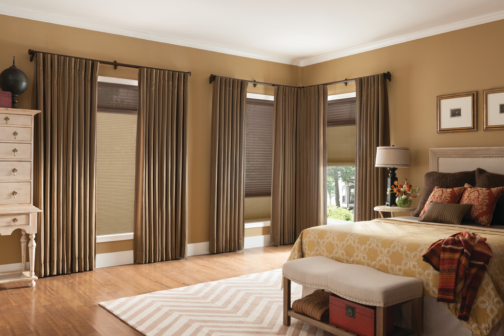 Waverly Curtains Bedroom Traditional with Bedroom Cellular Shades Chevron Rug Curtains Custom