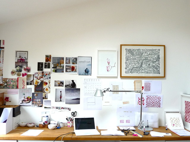 Whiteboard Calendar Home Office Eclectic with Desktop Gallery Wall Inspiration Wall Mood Wall Organization Tablescape