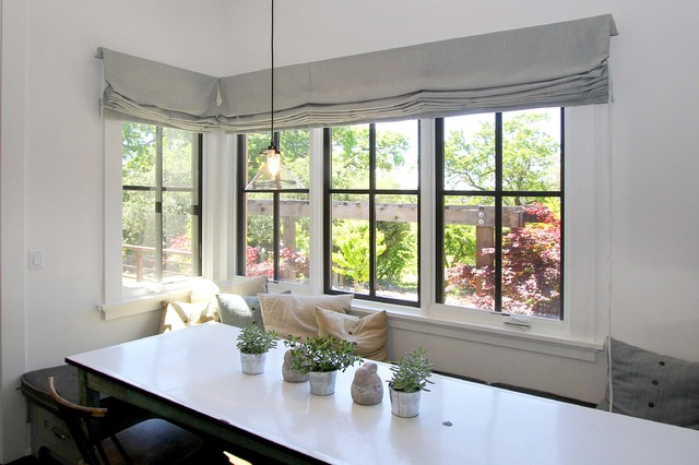 Window shades lowes living room modern with bay window for Windows with built in shades