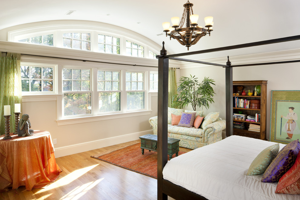 Window Treatments for Arched Windows Bedroom Victorian with Arched Windows Asian Baseboards Bed Pillows Bookcase