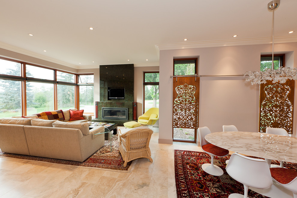 Window Treatments for Sliding Doors Living Room Contemporary with Area Rug Carved Wood Chandelier Dining Area1