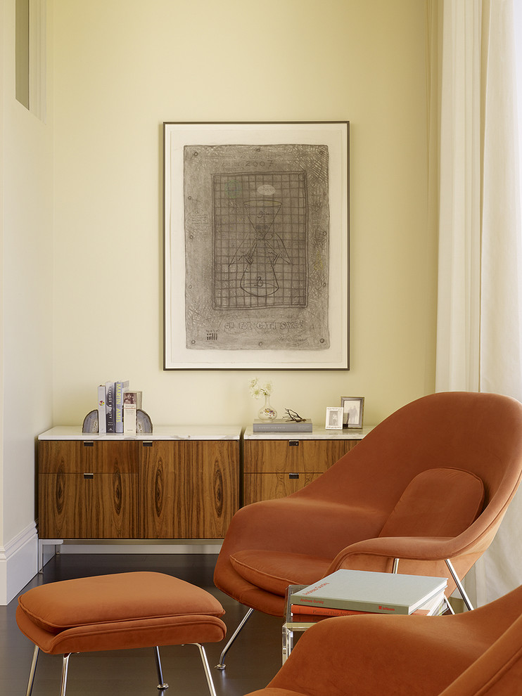 Womb Chair Bedroom Midcentury with Armchair Credenza Modern Credenza Orange Chair Side