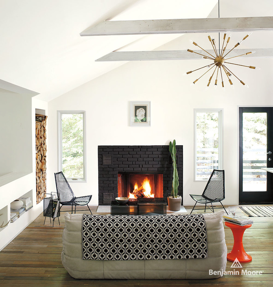 Wood Burning Fire Pit Living Room Contemporarywith Categoryliving Roomstylecontemporary