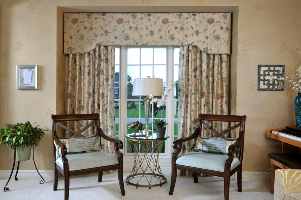 Wood Valance Living Room Transitional with Categoryliving Roomstyletransitionallocationbuffalo New York United States