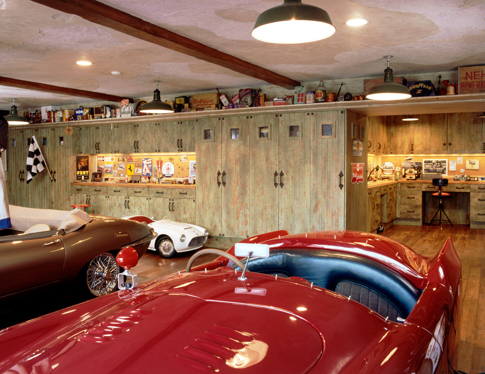 Wooden Lockers Garage and Shed Transitional with Auto Auto Body Built in Desk Cars Checkered