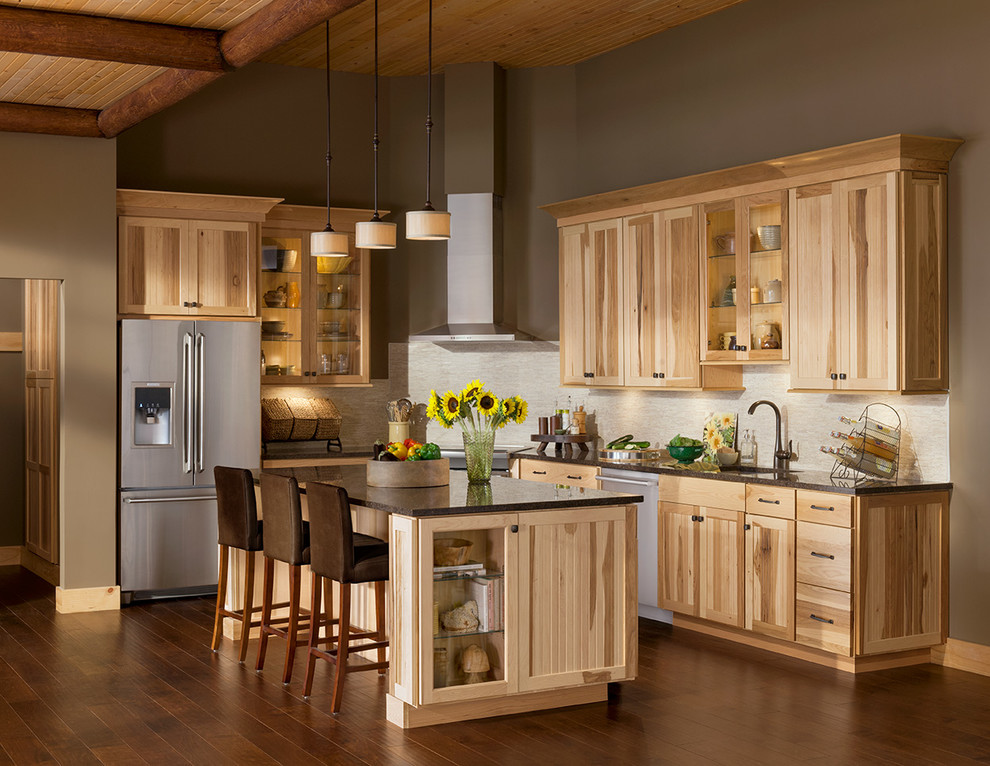 Woodmark Cabinets Kitchen Rustic with Beadboard Cabin Cottage Country Lodge Mountain Rustic3