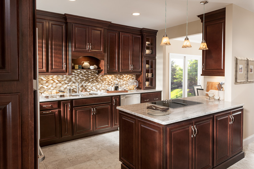 Woodmark Cabinets Kitchen Traditional with Budget Cherry Traditional Woodmark 3