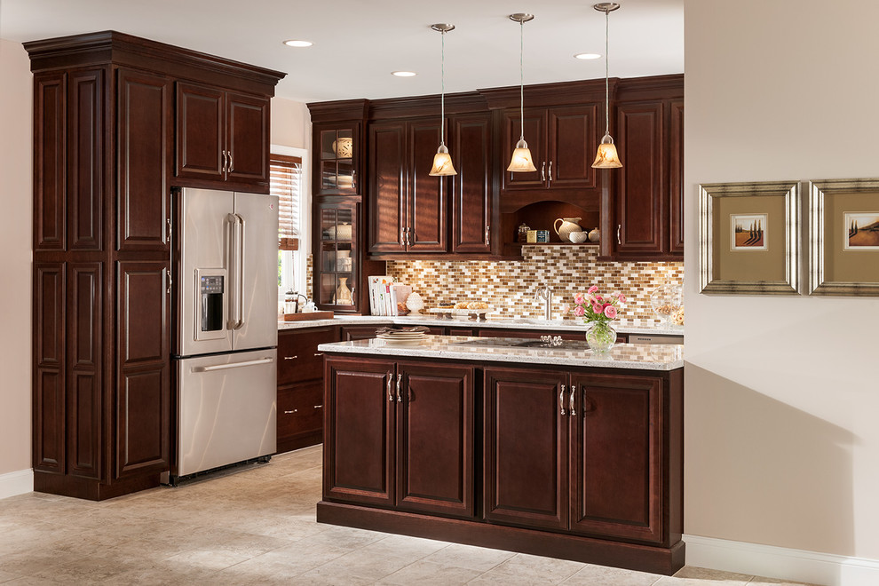Woodmark Cabinets Kitchen Traditional with Budget Cherry Traditional Woodmark 5
