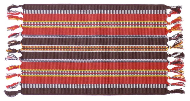 Woven Placemats with Brick Burgundy Place Mat Washable
