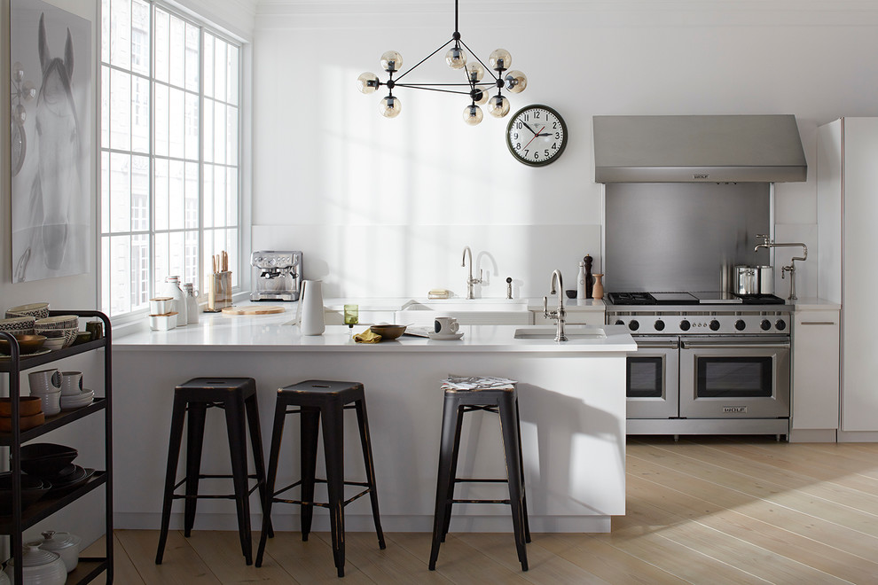 Wrought Iron Bar Stools Spaces Industrial with Contemeporay Eclectic Eclectic Kitchen Industrial Kitchen Kitchen