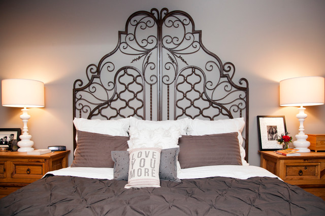 Wrought Iron Headboard Bedroom Eclectic with My Houzz