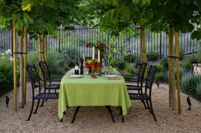 wrought iron patio chairs Patio Mediterranean with alfresco dining black fence black patio chairs contemporary Dining