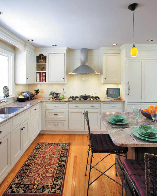 Zephyr Hood Kitchen Traditional with Breakfast Bar Cabinet Front Refrigerator Ceiling Lighting Corner Cabinets