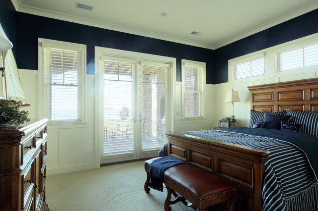 3dayblinds Bedroom Traditional with Crown Molding Foot Of