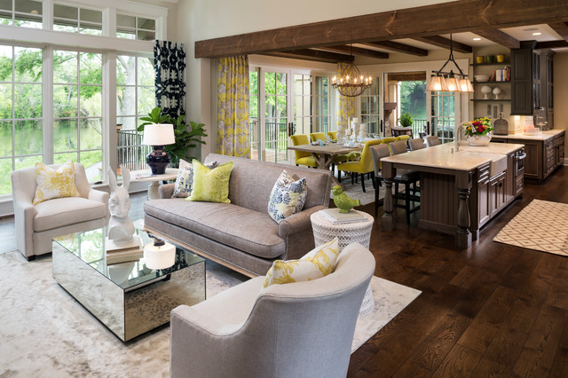 8.5x11 Frame Living Room Traditional with Dark Wood Kitchen Eclectic