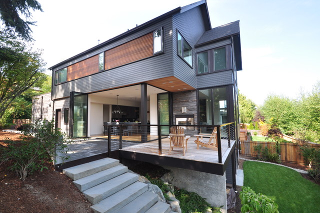 Accordion Gate Exterior Contemporary with Adirondack Chairs Bi Fold Doors
